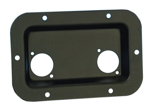 Cuvette noire • 2 XLR serie D, dimensions ext 136 x 89 x 13,8mm
