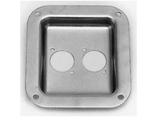 Cuvette • 2 XLR serie D, dimensions 112 x 102 x 12mm