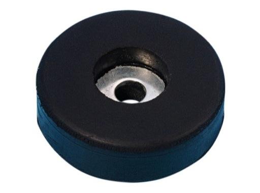 Butée PVC • noire Ø 38mm, hauteur 10mm