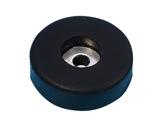 Butée PVC • noire Ø 38mm, hauteur 10mm-flight-cases