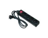 Quadruplette noire • 10/16A 250V avec interrupteur CE
