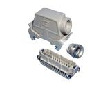HARTING • Prolongateur mâle coudé à leviers 24 Contacts 16 Ampères PG21-cablage