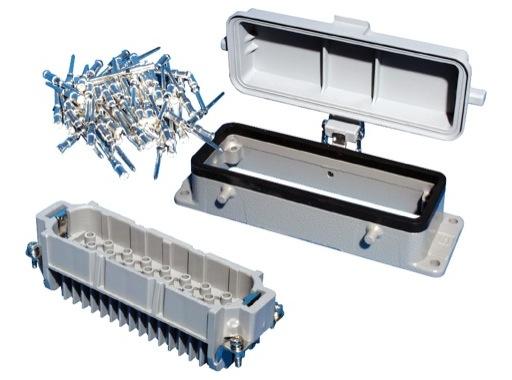HARTING • Embase mâle à ergots capot plastique 64 Contacts 10 Ampères