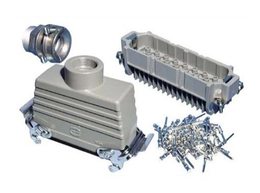 HARTING • Prolongateur mâle 64 Contacts 10 Ampère à leviers PG29