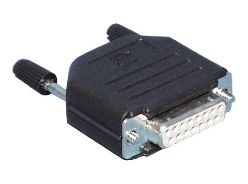 HARTING • Connecteur DB15 femelle + capot noir plast. droit