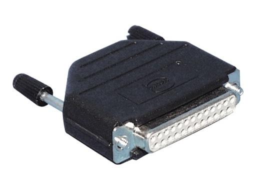HARTING • Connecteur DB25 femelle + capot noir plast. droit