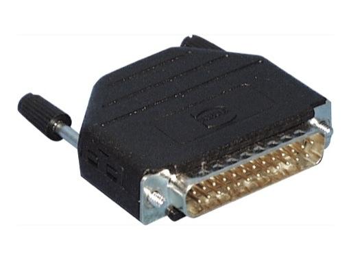 HARTING • Connecteur DB25 mâle + capot noir plastique droit