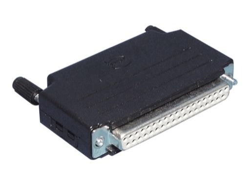 HARTING • Connecteur DB37 femelle + capot noir plast. droit