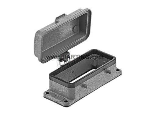 HARTING • Embase à 4 ergots couvercle métallique pour insert 16/40/72 points