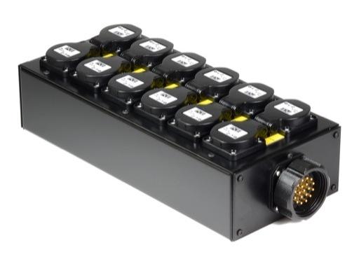 BOITIER 6 Circuits • Kilt 350 cablé Socapex 41902N et 12PC10/16 E1000
