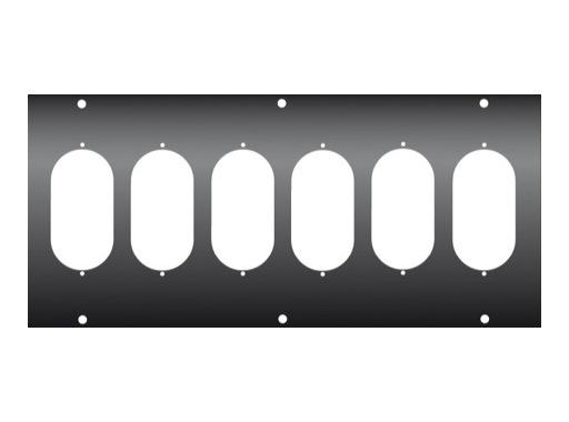 KILT • Face avant 350 x 160mm avec usinage pour 6 x K501