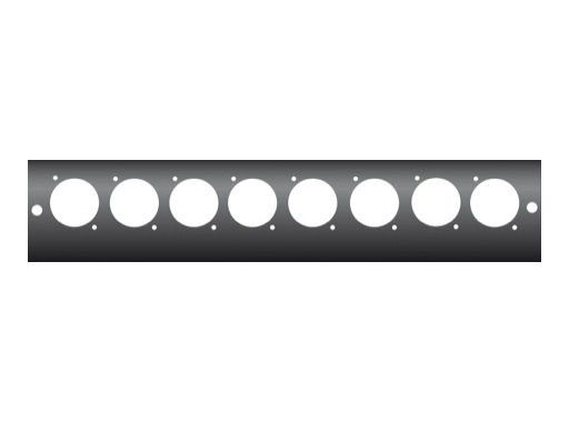 KILT • Module de boitier 250 x 45mm usinage pour 8 embases série D