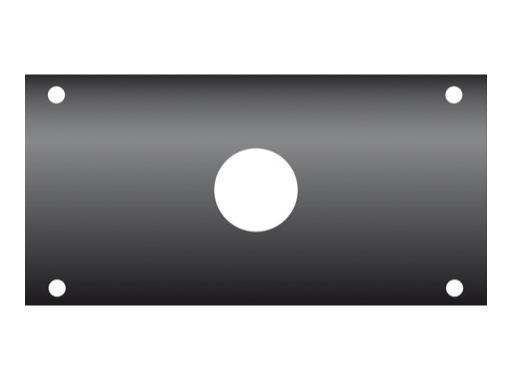 KILT • Flanc 160 x 80mm usinage ø 29mm pour PG21