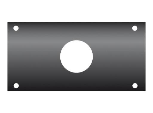 KILT • Flanc 160 x 80mm usinage ø 38mm pour PG29