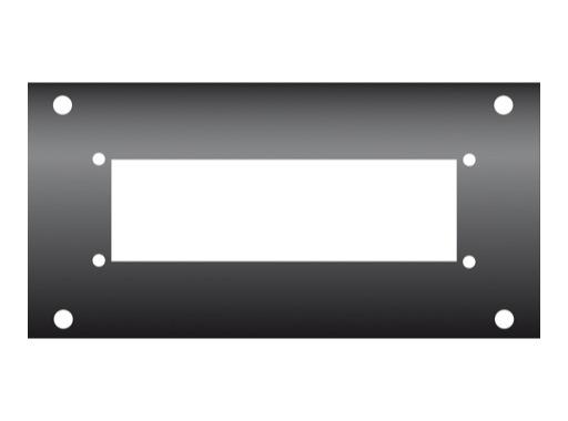 KILT • Flanc 160 x 80mm usinage pour Harting 24/64/108