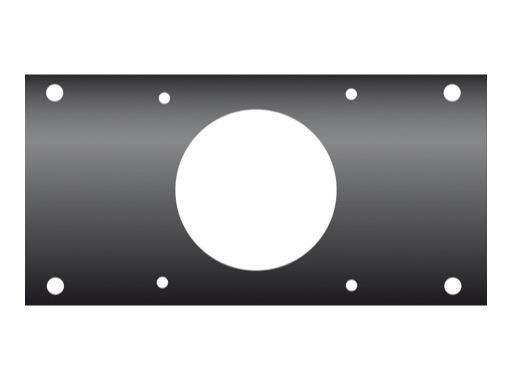 KILT • Flanc 160 x 80mm usinage pour embase P17 mâle PCE