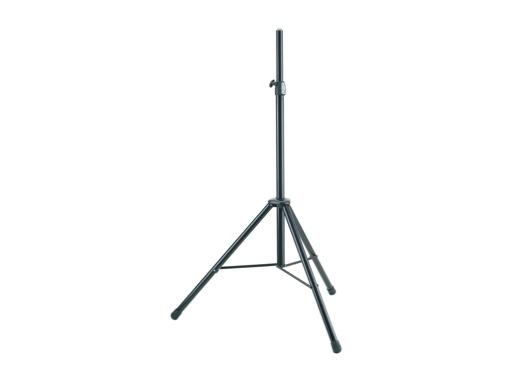 K&M • Pied d'enceinte en aluminium noir pour enceinte 40 kg ø 35 mm H 2 m