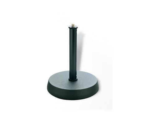 K&M • Pied de table noir embase circulaire 13 cm Hauteur 170 mm