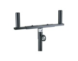 K&M • Double support noir en U HT 120 mm-stands-supports