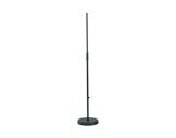 K&M • Pied de micro noir embase ronde 250 mm lourde 870 / 1565 mm-audio