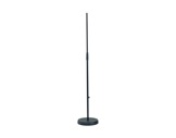 K&M • Pied de micro noir embase ronde 250 mm lourde 870 / 1565 mm-pieds-de-micros