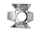 DTS • Volet 4 faces chrome pour PAR36 LONG 155x155mm-accessoires