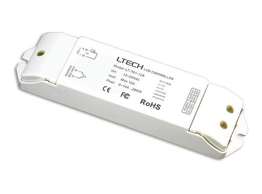 ESL • Driver ledstrip 1x12A 12-24V 0/1-10V push button