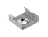ESL • Clip fixation chrome mat pour profilé gamme 45 ALU-accessoires-de-profiles-led-strip